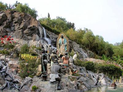 Jardin del Tepeyac or Garden del Tepeyac. Basilica de Guadalupe. Mexico City