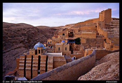Mar Saba Monastery, sunrise. West Bank, Occupied Territories (Israel)