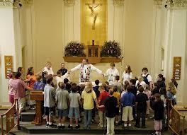 round the altar