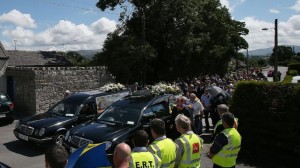 The funeral of Eoghan and Ruairí Chada. Pic courtesy RTE.