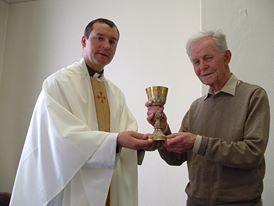 Dr Ivo O'Sullivan of FMA and Fr Eamon Bourke