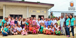 The proud owners of the community health centre with SERVE volunteers, Nano Nagle School teachers, and representatives of other partners.
