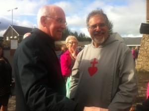 Cardinal Sean Brady and Fr Michael Shields. Pic: www.worldpriest.com