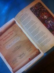 Tóchar Phádraig Pilgrimage Walk Certificate