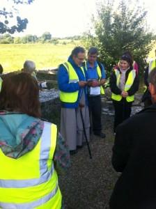 Blessing of pilgrimage start point Ballintubber Abbey.