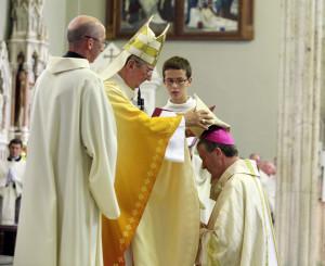 Archbishop Diarmuid Martin ordains Bishop Denis Nulty. Photo: John McElroy