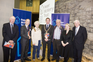 Lord Mayor of Dublin Oisin Quinn with members of Peter McVerry Trust's Board of Directors and Pat Doyle CEO.