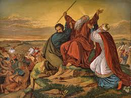 Moses at Rephidim