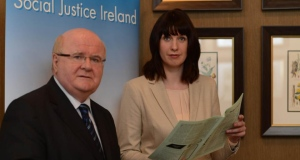 Dr Sean Healy and Michelle Murphy of Social Justice Ireland.