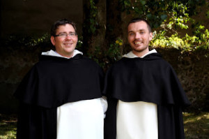 Bros Greg Daly and Neil Fox, both from Dublin, who were clothed in the habit of the Dominican Order.