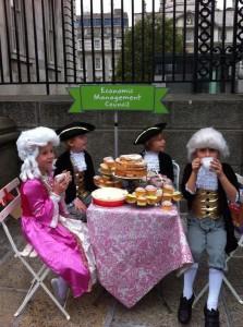 Barnardos budget 2014 campaign -Let them eat cake