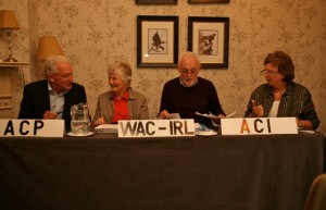 Fr Tony Flannery of ACP; Sr Dairne McHenry and Brendan Butler of WACI and Cathy Molloy of ACI.