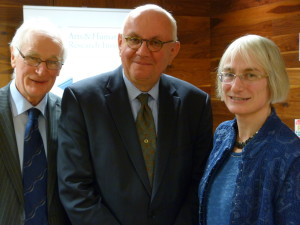 Dr Con Casey, Director of the Loyola Institute, Professor Peter Strohschneider of the University of Munich and Head of German Research Council and Dr Fáinche Ryan, Assistant Professor in Systematic Theology