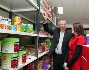 Archbishop Diarmuid Martin at Crosscare's Food Bank. Photo: John McElroy