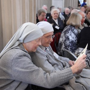 Pic shows Srs Lucyna and Mary Patrick Kenny of the Missionary Sisters of St Peter Claver looking at a programme before the event got underway. Pic John Mc Elroy.