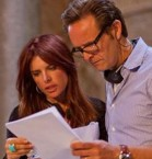 Executive producers, Mark Burnett and Roma Downey on the set of  The Bible