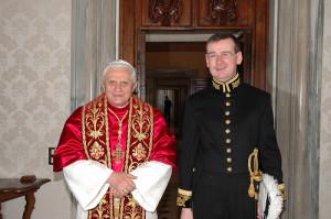 Pope Emeritus Benedict XVI with Francis Campbell.