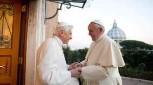 Pope Francis and Pope Emeritus Benedict XVI.