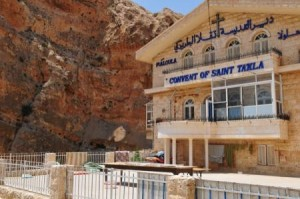 Monastery of St Thecla in Maaloula, Syria.