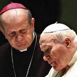 Pope John Paul II and Archbishop Stanislaw Dziwisz