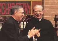 St Josemaria Escriva, founder of Opus Dei, applauds Bishop Alvaro del Portillo 1975 JPEG