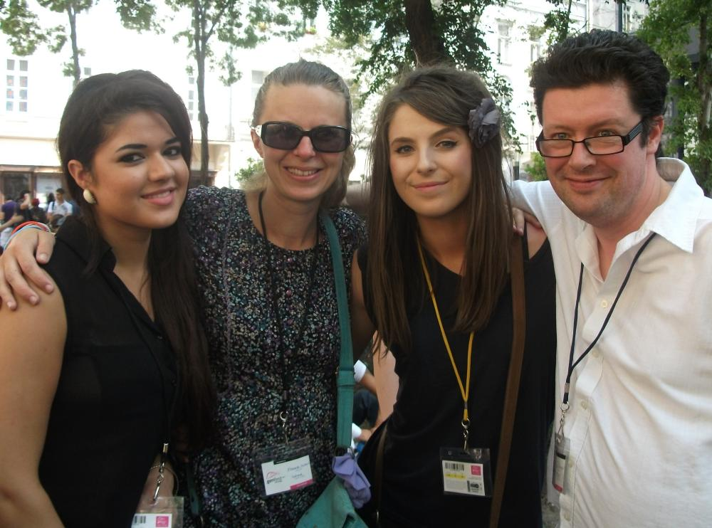 Tom O'Gorman with a group of delegates at Genfest in Hungary 2012