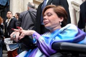 Italian MP and disability rights campaigner, Ileana Argentin.