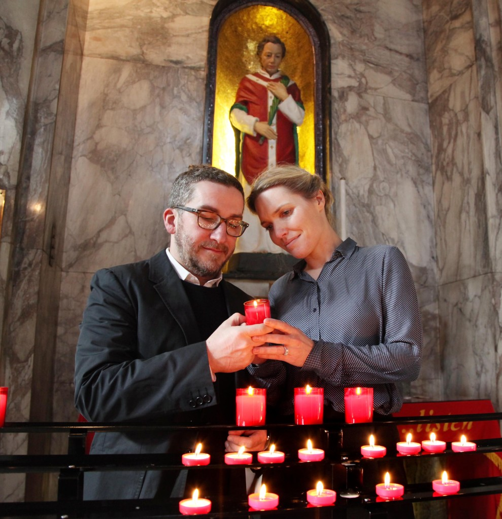 BLESSING OF ENGAGED COUPLE AT ST VALENTINE SHRINE
