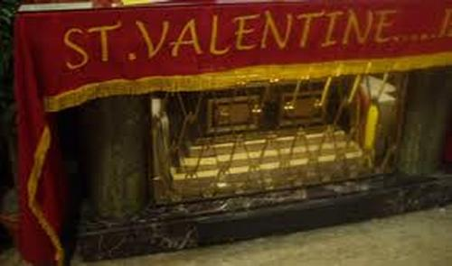Reliquary containing some of the remains of St. Valentine