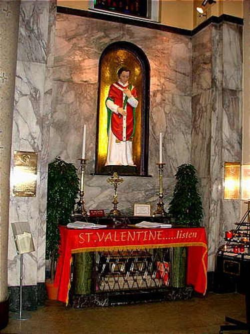 Shrine to St Valentine, Whitefriar Street, Dublin