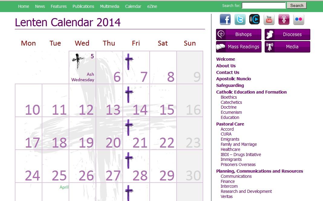 online 2014 calendar