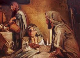 Mary washes J feet