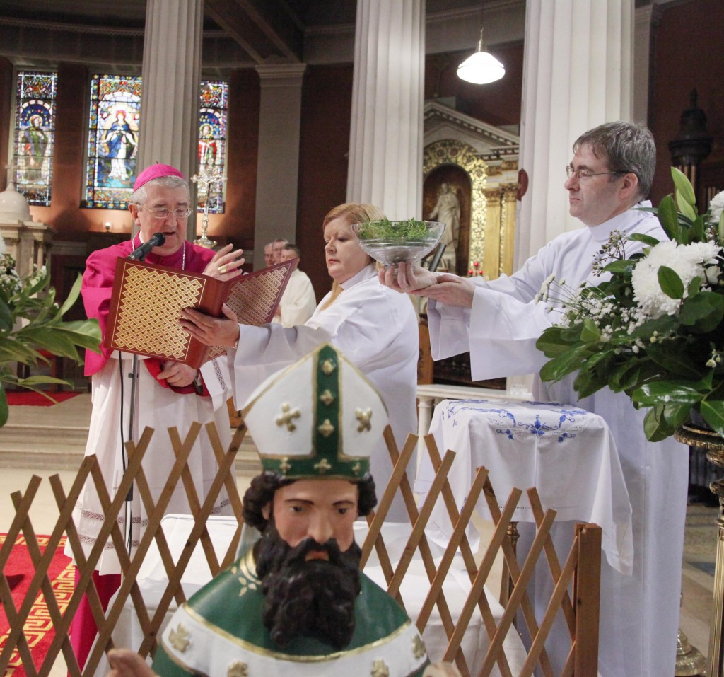 Blessing of the Shamrock in the Pro Cathedral in Dublin. Photo: John McElroy.