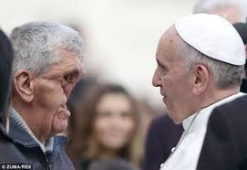 A man in need shares his faith with Pope Francis