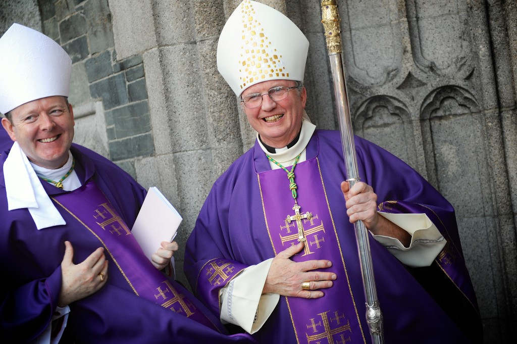 New Bishop of Derry, Dr Donal McKeown, and the Coadjutor Archbishop of Armagh, Dr Eamon Martin. Pics: Stephen Latimer.