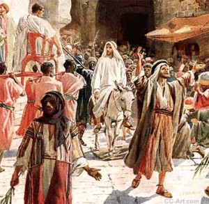 Jesus in procession