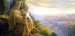 Jesus looks at eruslem