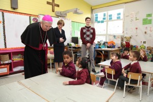 Archbishop Diarmuid Martin of Dublin at St James' in Basin Lane. Photo: John McElroy