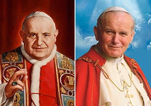 Blesseds John XXIII and John Paul II. (CNS photo)
