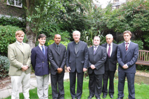 New seminiarians at Allen Hall.
