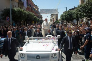 Pope Francis in Calabria. Photo: Vatican Radio
