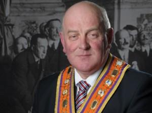 Grand Master of the Grand Orange Lodge of Ireland, Edward Stevenson.