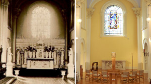 Venerable Catherine McAuley's chapel then and now