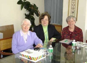Srs. Philomena Bowers, Deirdre Mullan (Director MCG) and Mary Waskowiak at the UN