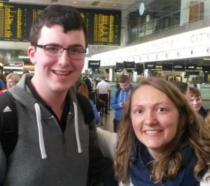 Conleth Burns (Ballycastle) & Kiara Van Maele (Dublin), bound for World Citizens Camp, Argentina