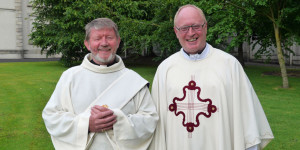 Fr Terence McGovern and Fr Seán Hyland of Kildare & Leighlin diocese.