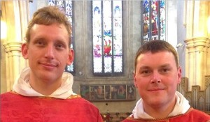 Fr Luuk Jansen OP and Fr Colm Mannion OP who were ordained on Saturday. Pic: Fr Gerard Dunne OP, vocations director of the Irish Dominican province.