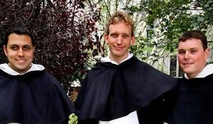 Brother Matthew Martinez OP, Fr Luuk Jansen OP and Fr Colm Mannion OP.