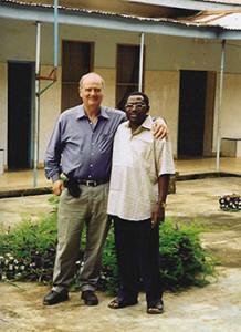 Br Patrick Nshamdze with John Mitchell of the Saint John of God Development Company