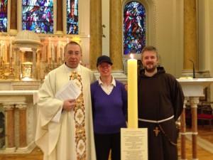 Fr Robert McCabe, Paddy Pender & Fr Bryan Shortall OFM Cap.